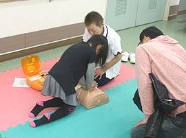 防災コーナー「AEDの使い方」